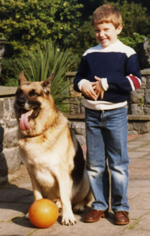 A young dog trainer